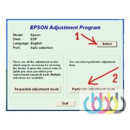 Adjustment program Epson L111, L130, L210, L220, L301, L310, L351, L360, L455, L551, L605, L655, L801, L805, L810, L850, L1300, L1800, Me620F, 1430, wf7018, wf7521