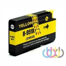 Совместимый Картридж HP 951XL, Yellow, HP OfficejetPro 251, 276, 8100, 8610, 8615, 8660