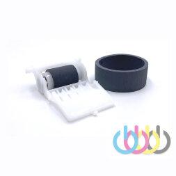 Ремкомплект резинка на ролик захвата в сборе на оси + ролик отделения для Epson Stylus Photo 1410, Epson Stylus Photo 1500W, Epson L1800, Epson L1300, Epson Stylus Office T1100
