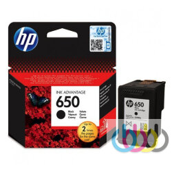 Картридж HP 650 Black, Dj Ink Advantage 1015, 1515, 1516, 2515, 2516, 2545, 2546, 2645, 3515, 3545, 4515, CZ101AE
