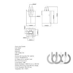USB-разъема для принтера или МФУ, тип B прямой