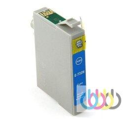 Совместимый Картридж Epson TO732, Stylus C79, CX3900, CX5900, CX6900, CX7300, CX8300, CX9300, T40W, TX200, Cyan