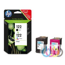 Набор картриджей HP 122 черный + 122 трехцветный, DeskJet 1000, 1050, 1050A, 1510, 2000, 2050, 2050A, 2050se, 2054A, 3000, 3050, 3050A, CR340HE