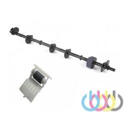 Ремкомплект ролик захвата в сборе на оси + ролик отделения для Epson Stylus Photo 1410, Stylus Photo 1500W, L1800, L1300, T1100
