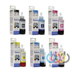 Комплект чернил Revcol для EPSON L800, L801, L805, L810, L850, L1800, 100 ml x 6