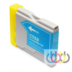Совместимый Картридж Brother LC1000, LC970 Cyan, DCP-130C, DCP-135C, DCP-150C, DCP-153C, DCP-157C, DCP-330C, DCP-350С, DCP-353C, DCP-357C, DCP-540CN, DCP-560CN, DCP-750CW, DCP-770CW, MFC-235C