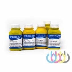 Комплект пигментных чернил IIMAK 168 5 цветов для Canon imagePROGRAF с картриджами PFI-110, PFI-120, PFI-310, PFI-320, PFI-710. 200г х 5