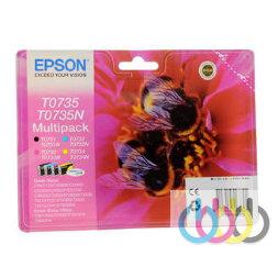 Набор картриджей Epson T0735, Stylus CX4900, Epson Stylus CX8300, Epson Stylus CX7300, Epson Stylus CX5900, Epson Stylus CX3900, Epson Stylus C79, Epson Stylus C110, Epson Stylus CX9300F, Epson Stylus CX6900F