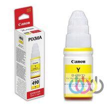 Чернила CANON GI-490 Yellow, PIXMA G1400, G2400, G3400