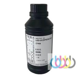 Чернила УФ для мягких материалов Cyan 500 ml