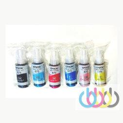 Комплект оригинальных чернил Epson 673, Epson L800, Epson L801, Epson L805, Epson L810, Epson L850, Epson L1800, 70ml*6, Без коробки