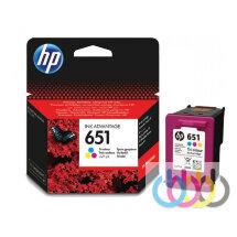 Картридж HP 651 Color, HP DeskJet Ink Advantage 5575, HP DeskJet Ink Advantage 5645, HP OfficeJet 252, HP OfficeJet 202, C2P11AE